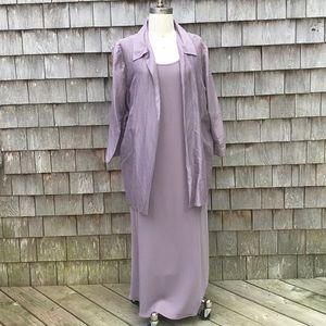 Eileen Fisher Silk Sheath Dress/Matching Jacket